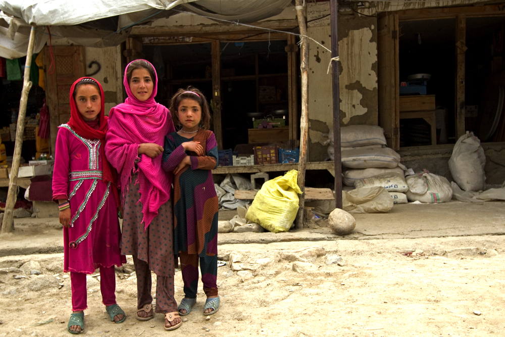 All girls love pink! Three girls in Ishkashim Afghanistan.