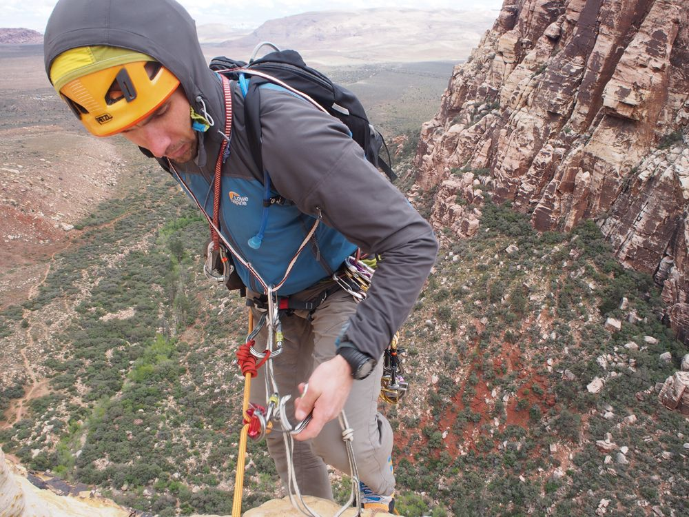 Abseiling, Red Rocks, USA