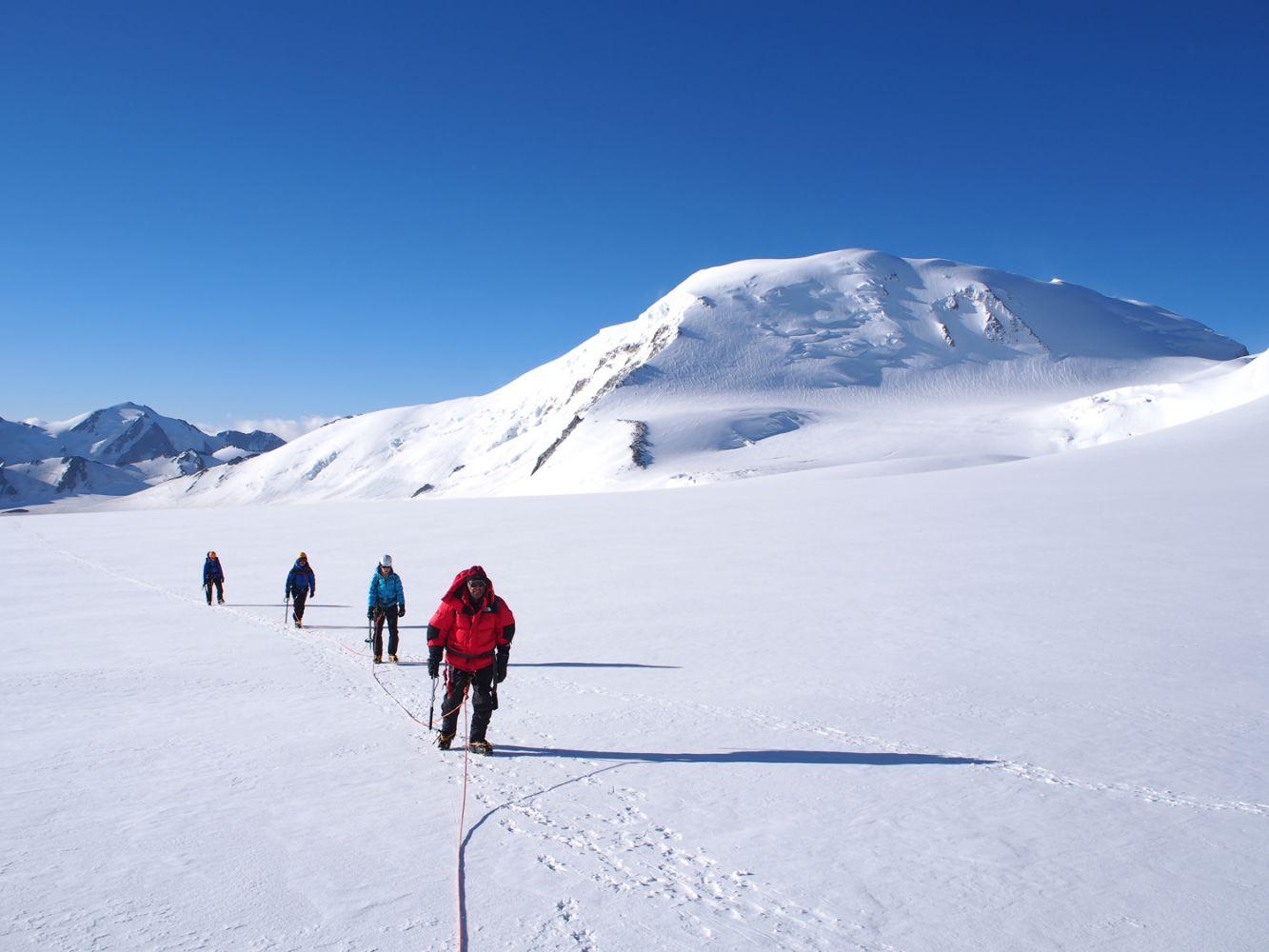 Mountaineers, Mount Khuiten, Mongolia