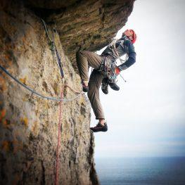 Trad climbing safety course