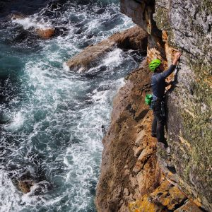 sea cliff climbing safety course