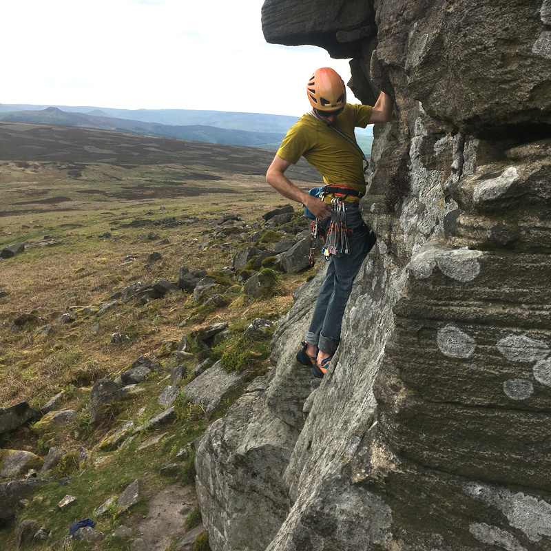 Gritstone climbing weekend