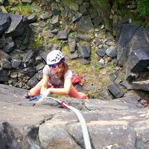 Gritstone rock climbing
